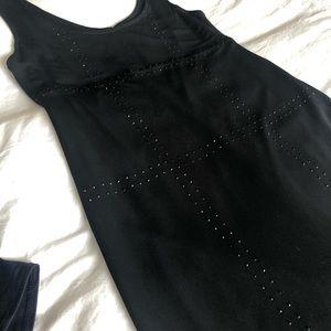 Silky black cocktail dress